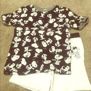 Boys Snoopy Shirt/short set size 7